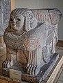 Basalt column base depicting a sphinx Assyrian 8th century BCE (32125643572).jpg