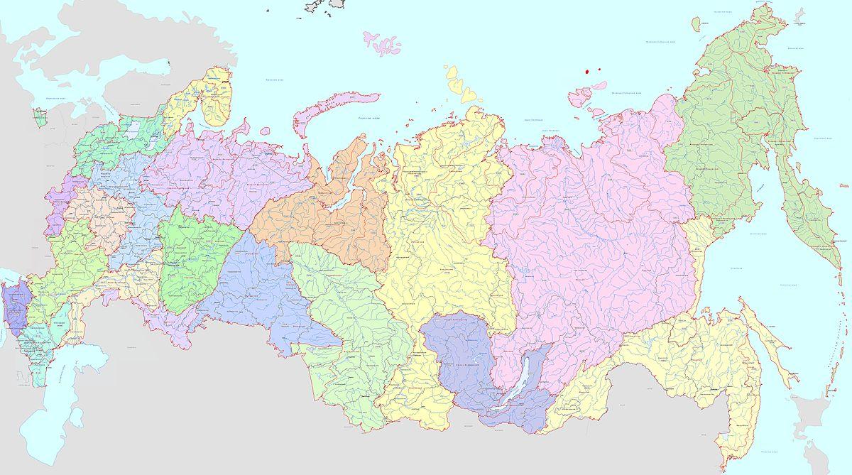 Карте россии с городами и областями