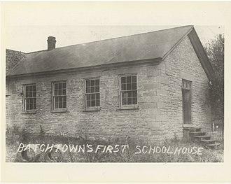 Batchtown, Illinois - First School Building