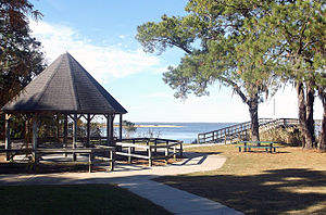 Daphne, Alabama - A portion of Bayfront Park overlooking Mobile Bay