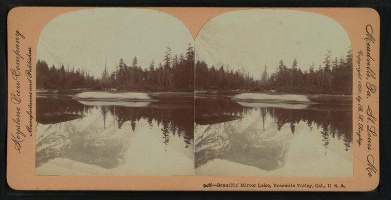 Beautiful Mirror Lake, Yosemite Valley, Cal. U.S.A, by Singley, B. L. (Benjamin Lloyd) 7.png