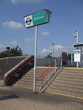 Beckton stn entrance.JPG