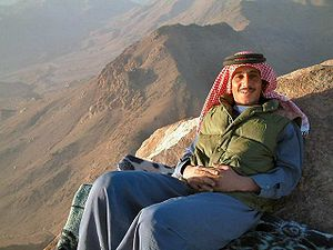 English: Bedouin resting at the mount sinai. M...