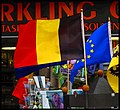 Belgian and EU Flags - panoramio.jpg