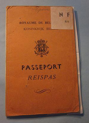 Belgian passport - Image: Belgian passport