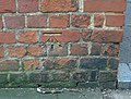 Benchmark cut in brick of Forbury gateway. - geograph.org.uk - 701905.jpg