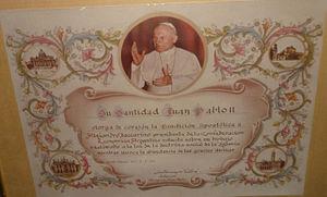 Alejandro Iaccarino - Apostolic Blessing from Pope John Paul II