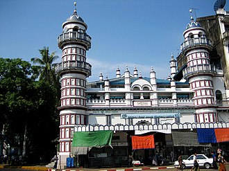 Religion in Myanmar - Bengali Sunni Jameh Mosque in Yangon