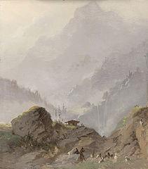 Berglandschap in Tirol met gemzen