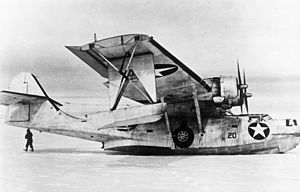 Bernt Balchen - Balchen's Consolidated OA-10 Catalina on the ice in Greenland after a rescue