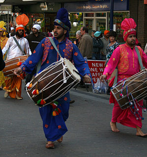 Dhol Double-headed Indian drum