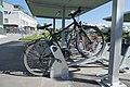 Bicycle racks at the train station Steinhausen 02.jpg