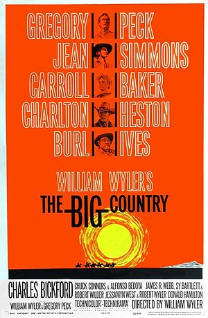 The Big Country - Theatrical release poster by Saul Bass