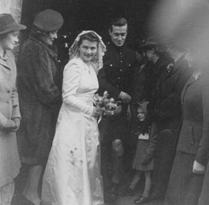 William Rose (screenwriter) - Wedding of William Rose (in his Black Watch uniform) and Tania Price in 1943