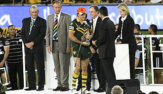 Billy Slater - Slater after playing for Australia in the 2008 World Cup Final.
