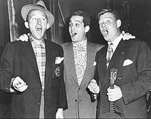 with arthur godfrey as a guest on bing crosbys radio show 1950 - Perry Como Christmas Show