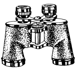An illustration of binoculars