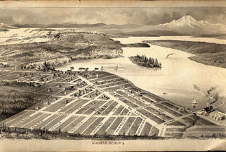 Rainier Beach, Seattle - Bird's eye view of Rainier Beach, 1895. Courtesy of Seattle Municipal Archives.