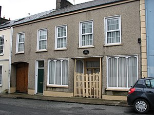 Dave Gallaher - The house where Gallaher was born in Ramelton, Ireland. A plaque above the door commemorates his contributions to New Zealand rugby.