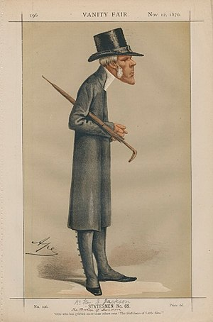 "John Jackson (bishop) - ""One who has grieved more than others over 'The Sinfulness of Little Sins'"" Bishop Jackson as caricatured by Ape (Carlo Pellegrini) in Vanity Fair, November 1870"