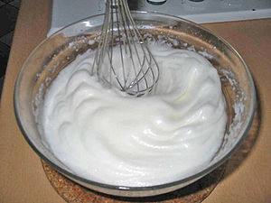 Beaten egg whites