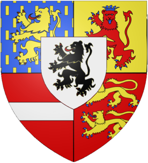 Henry de Nassau, Lord Overkirk - Arms of the Counts of Nassau-den Lek and Ouwerkerk.