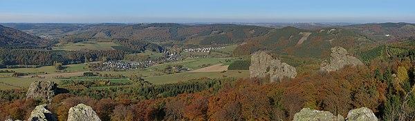 Looking from the Summit of the Bruchhauser Steine in the Sauerlnd
