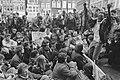 Blokkade Stadhuis Amsterdam in verband met installatie Centrumpartijraadslid me, Bestanddeelnr 933-6421.jpg