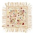 Blommig sjal, duk med kinesiska influenser, 1930-tal - Livrustkammaren - 108317.tif