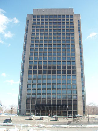 Pearl River, New York - Blue Hill Plaza skyscraper in Pearl River, New York