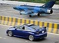 Bluebird and blue car -2 Toyota Celica,Bangladesh. (36470665700).jpg