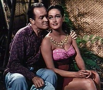 Hope with Dorothy Lamour in Road to Bali (1952) Bob Hope and Dorothy Lamour in Road to Bali.jpg