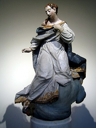 Ignaz Günther - Günther's Maria Immaculata (ca. 1750), now in the Bode Museum in Berlin