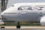 Boeing 747-412 El Al Israel Airlines 4X-ELH (8711516190).jpg