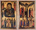 Bonaventura Berlinghieri - Madonna and Child with Saints and Crucifixion - WGA1954.jpg