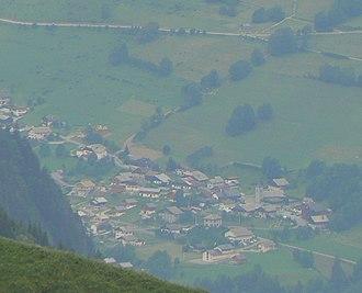 Bonnevaux, Haute-Savoie - Bonnevaux seen from the nearby mountainside