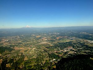 Boring, Oregon - Aerial view of Boring and surrounding area.
