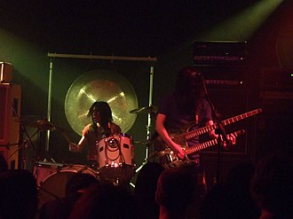Boris (band) - Atsuo (left) and Takeshi (right) live in 2008