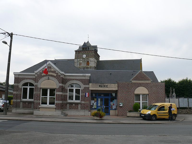 The city hall in Borre (Nord, France).