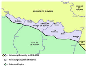 Treaty of Passarowitz - Region of Bosnian Posavina, assigned to Habsburg Monarchy by the Treaty of Passarowitz