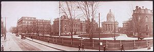 Boston Medical Center - Boston City Hospital, shown here in a 1903 photo, was one of the two institutions which merged in 1996 to form Boston Medical Center.