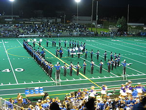 Bothell's marching band at a football halftime...