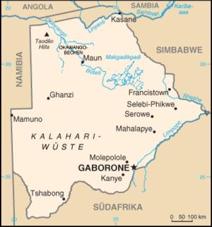 Karte von Botsuana