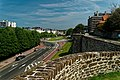 Boulogne-sur-Mer - Ville Haute - Rampart of Fortifications - View NW towards Square Mariette.jpg