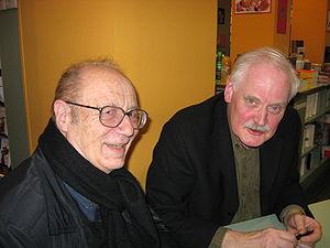 Pierre Bourgeade - Pierre Bourgeade (left) and Willem en dédicace à la librairie L'Arbre à lettres, January 2008, Paris
