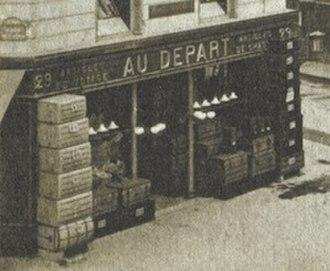 Au Départ - Image: Boutique Au Départ Opéra 1905