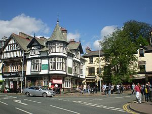 English: Bowness on Windermere Town Centre