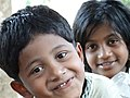 Boy and Girl - Outside Dhatu Jadi Temple - Near Bandarban - Chittagong Hill Tracts - Bangladesh (13240542144).jpg