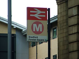 Bradford Forster Square railway station - The sign outside Bradford Forster Square station in August 2007