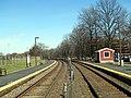 Brandeis Roberts station platforms facing east. April 2017.JPG